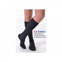 Vyriškos kompresinės kojinės iki kelių su medvilne ir sidabro siūlais 18-21mmHg.