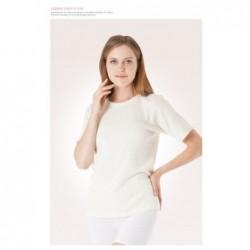 Angoriniai šildantys marškinėliai trumpom rankovėm